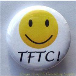 TFTC Big Smile Geocaching Button