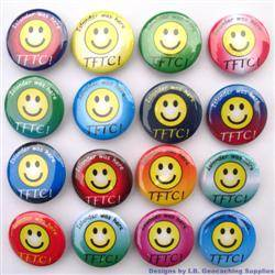 Personalized TFTC Colour Geocaching Button Set