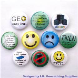 Smileys and More Geocaching Button Set