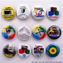 Muggles and More Geocaching Button Set