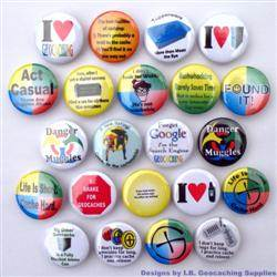 Popular Geocaching Button Set - Various Designs