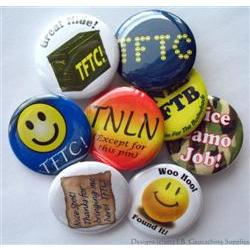 Thanks to Hider Geocaching Button Set