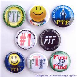 First to Find Cache Hider Geocaching Button Set