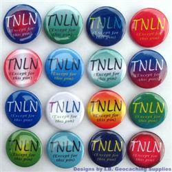 TNLN Colour Geocaching Button Set