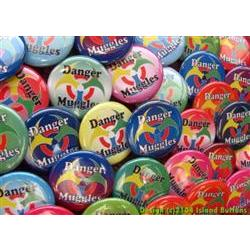 Danger Muggles Colour Geocaching Button Set