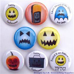 Halloween Geocaching Button Set