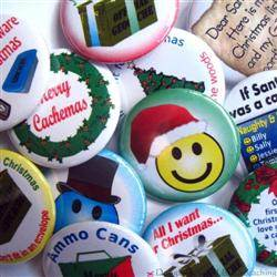 Christmas Geocaching Button Set