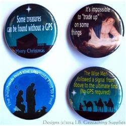 Christian Christmas Geocaching Button Set