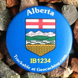 Canadian Provinces Trackable Button - Alberta