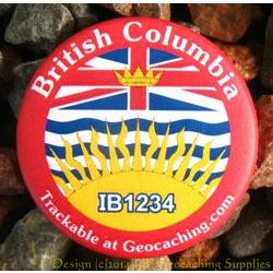 Canadian Provinces Trackable Button - British Columbia