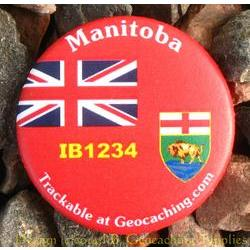 Canadian Provinces Trackable Button - Manitoba