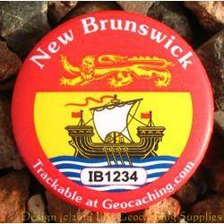 Canadian Provinces Trackable Button - New Brunswick
