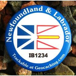 Canadian Provinces Trackable Button - Newfoundland and Labrador