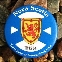 Canadian Provinces Trackable Button - Nova Scotia