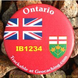 Canadian Provinces Trackable Button - Ontario
