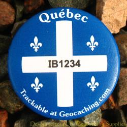 Canadian Provinces Trackable Button - Quebec