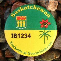 Canadian Provinces Trackable Button - Saskatchewan