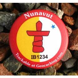 Canadian Territories Trackable Button - Nunavut