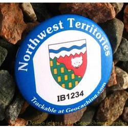 Canadian Territories Trackable Button - Northwest Territories