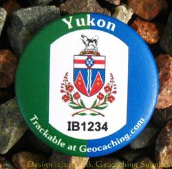 Canadian Territories Trackable Button - Yukon