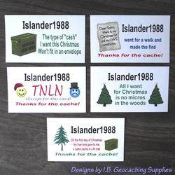 Christmas Caching - Set of 5 Calling Cards