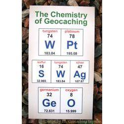 Chemistry of Geocaching - WPt GeO SWAg Card