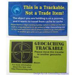 Geocaching Trackable info Card