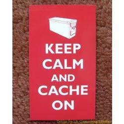 Keep Calm and Cache On Card (Ammo Can)