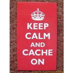 Keep Calm and Cache On Card (Crown)