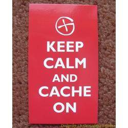 Keep Calm and Cache On Card (Geocaching G)