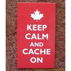 Keep Calm and Cache On Card (Maple Leaf)