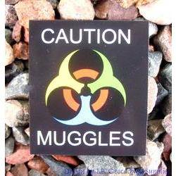 Caution - Muggles Small Card
