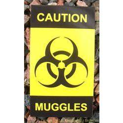 Caution - Muggles Card