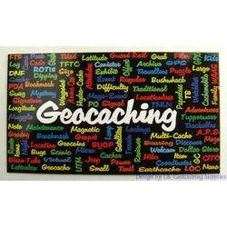 Geocaching Word Cloud Card