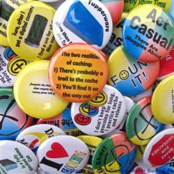 Geocaching Button Badges