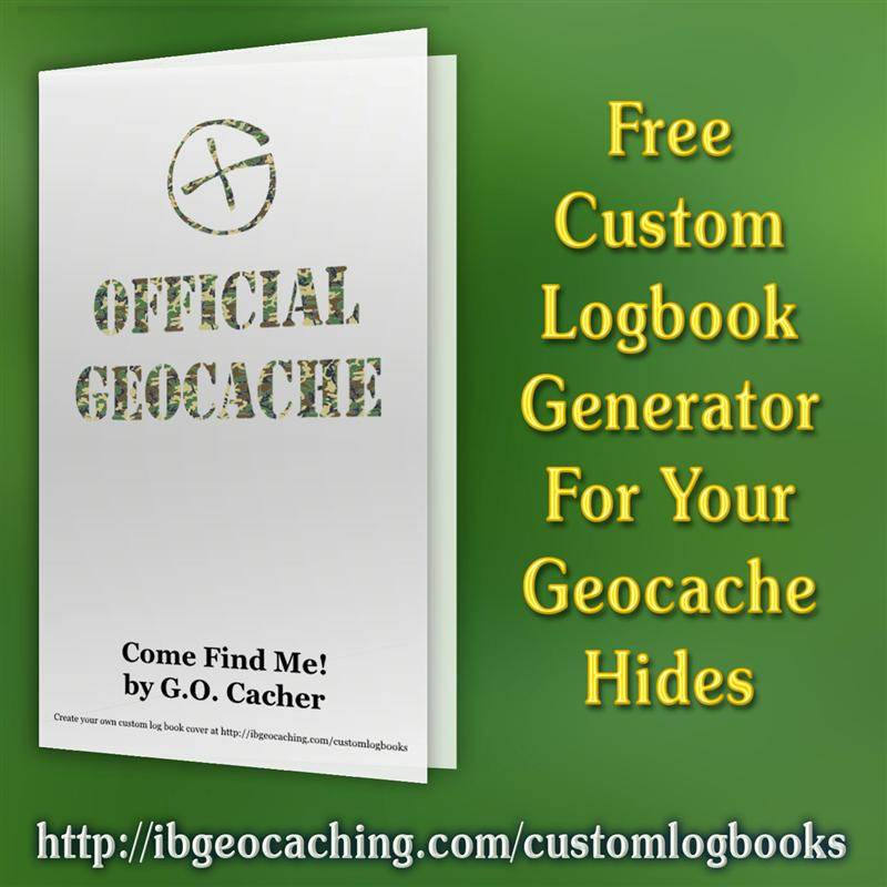 photo about Official Geocache Printable named Custom made Geocache Logbook Writer