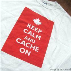 Keep Calm and Cache On - Maple Leaf T-shirt