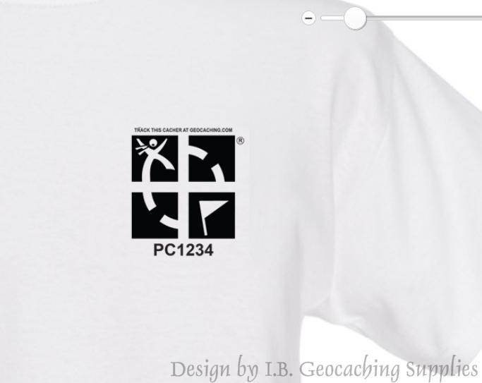 Geocaching Logo - Black & White Trackable T-shirt