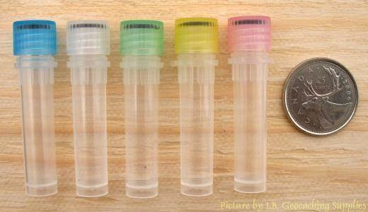 [Image of 2ml Plastic Nano Geocache Containers with O-ring cap]