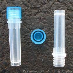 Plastic 2ml Nano Geocache Container with O-Ring Cap