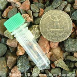 Plastic 1ml Nano Geocache Container with Green Cap and O-Ring