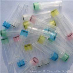Plastic 2ml Nano Geocache Containers with O-Ring Cap