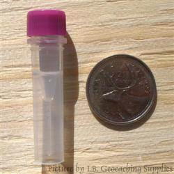 Plastic 0.5ml Nano Geocache Container with O-Ring Cap