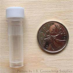Plastic 1ml Nano Geocache Container with White Cap and O-Ring