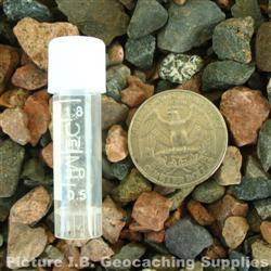 Plastic 2ml Nano Geocache Container with White Cap and O-Ring