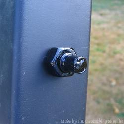 Magnetic Fake Bolt End Black Geocache