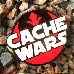 Cache Wars Black Nickel Geocoin - May the 4th Be With You
