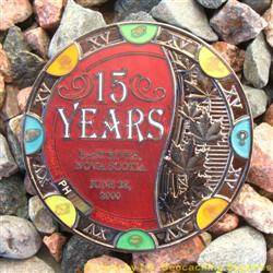 15 Years of Geocaching - Black Nickel Geocoin