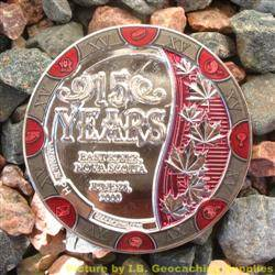 15 Years of Geocaching - Nickel Geocoin