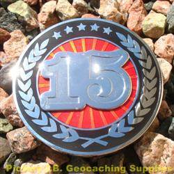 15 Years of Geocaching - Nickel R&B Geocoin